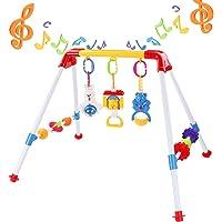 Juguete para Cuna Colgando sonajeros giratorios y Caja de m/úsica con Control Remoto para reci/én Nacido Hihey Cuna m/óvil con proyector y Luces