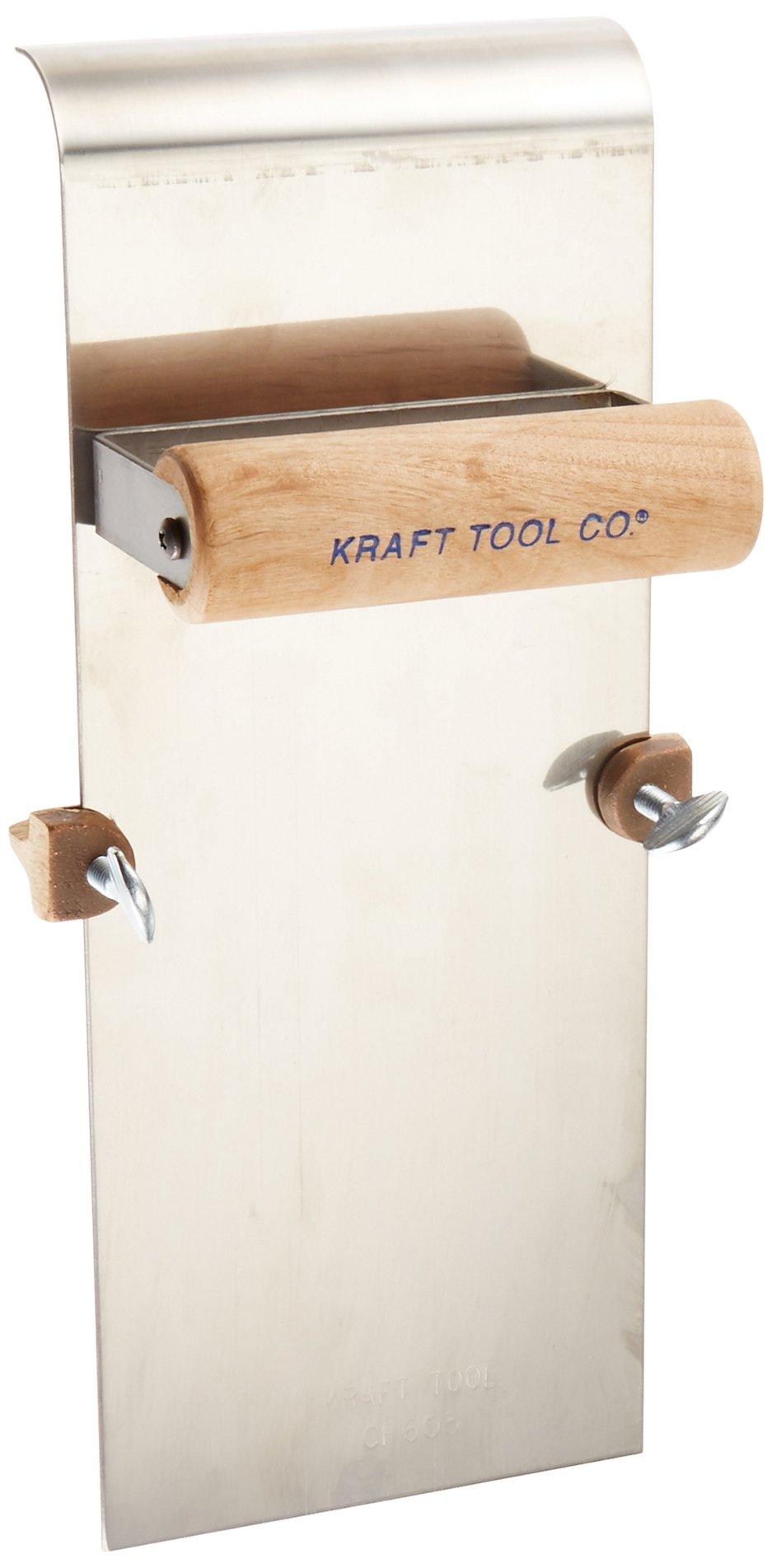 Kraft Tool CF605 Stainless Steel Edger with Adjustable Groover 3/4-Inch Radius