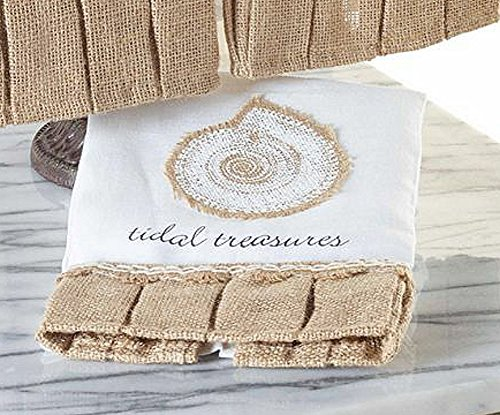Mud-Pie-Burlap-Shell-Linen-Hand-Towel