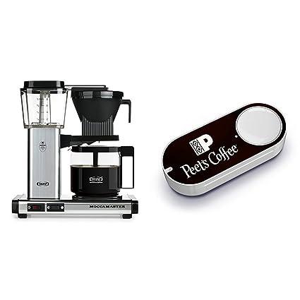 Technivorm Moccamaster 59616 KBG Polished Silver & Peet's Coffee Dash Button