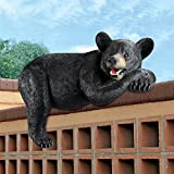Design Toscano KY1884 Lemont The Loveable Lounger Black Bear Statue For Sale