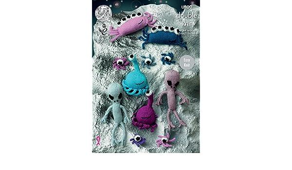 KNITTING PATTERN Meet the Aliens Part Two Stuffed Toys PATTERN DK King Cole UFO2