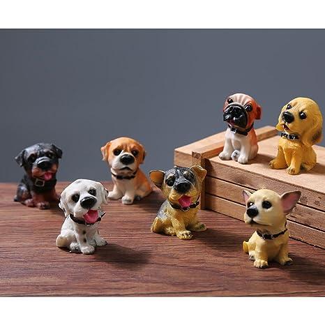 Labrador Dog Figurine Bobble Head Doll Toy Car Home Decor Pet lover Collectible