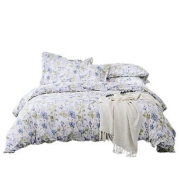 Umi. Essentials – Mit Petunie bedruckte Bettwäsche aus reiner Baumwolle mit  Kopfkissenbezug (155x220+1x80x80cm)