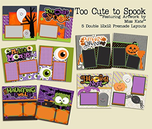 Too Cute To Spook Set - 5 Double Page Layouts (Halloween Double Page Layouts)