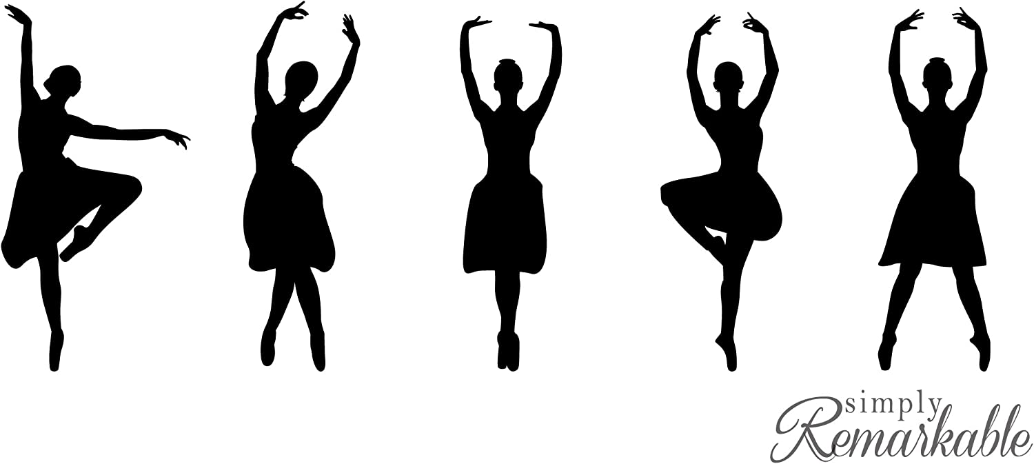 Vinyl Decal Sticker For Computer Wall Car Mac Macbook And More Ballet Dancer Silhouette Decal Amazon Com