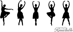 Vinyl Decal Sticker for Computer Wall Car Mac MacBook and More - Ballet Dancer Silhouette Decal