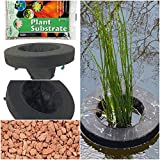 Floating Plant Islands, Floating 10'' & 14'' Round Pond Plant Baskets w/Substrate