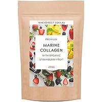 Premium Marine Collagen with Organic Strawberry Fruit - 200g