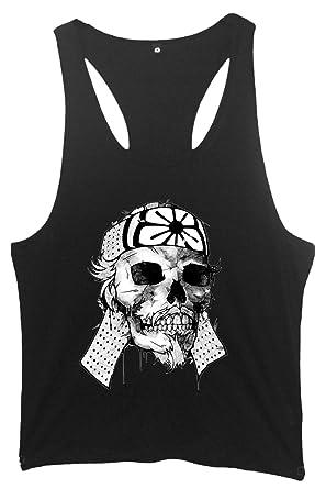 Kamikaze Japanese Skull Männer Fitness Weste - Schwarz - Small (86cm-91cm)