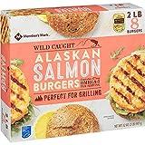 Evaxo Wild Caught Alaskan Salmon Burgers, Frozen