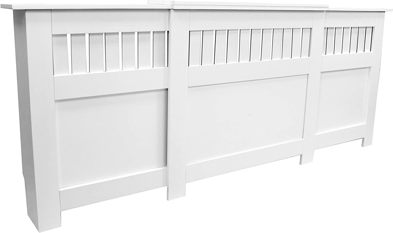 Large Jack Stonehouse Oak Maple White Green Painted Modern MDF Radiator Cover Cabinet with Panel Grill-Grey