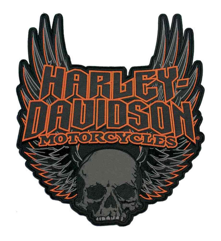 Harley-Davidson Gothic Winged Skull Embroidered Emblem, 3XL Size Patch EM108307 by HARLEY-DAVIDSON