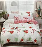 Starstorm_3 Pieces Fitted Single Bed sheet and Blanket Set_Flamingo Design (Click above on Starstorm for more designs)