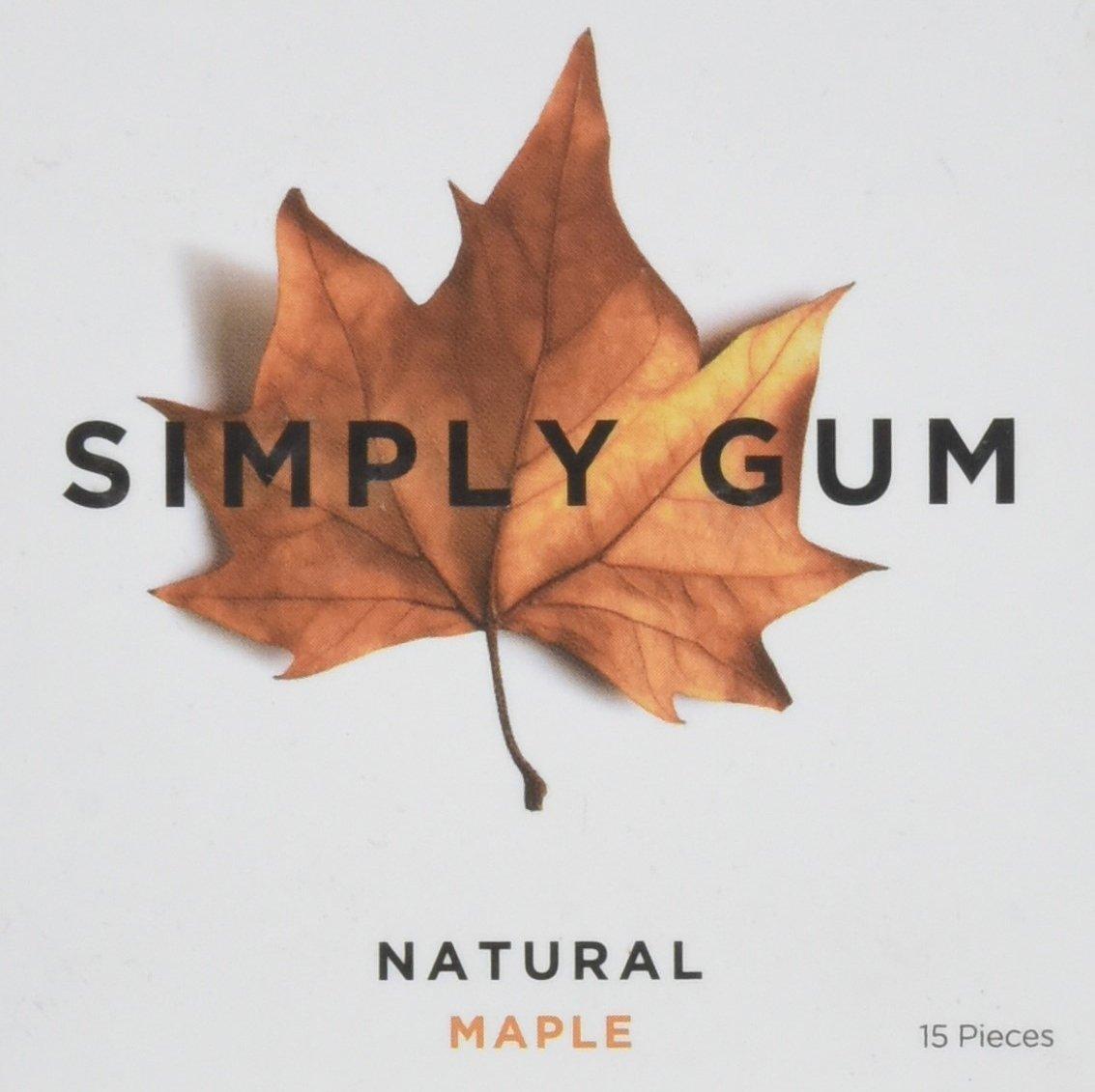 Simplygum Maple Natural Gum, 15 ct by Simply Gum