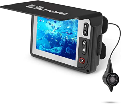 Underwater Fishing Camera Moocor Portable Fishing Finder Camera Hd1000 Tvl Infrared Led Waterproof Camera With 3 5 Inch Lcd Monitor For Ice Kayak
