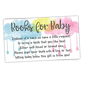 Amazon Com 50 Watercolor Clouds Books For Baby Shower Request