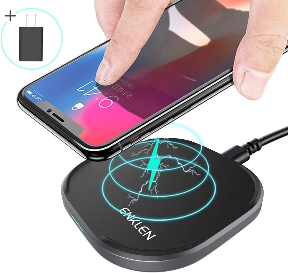 Samsung Galaxy Note 9//S9//S9 Plus//Note 8//S8 and All Devices QC 3.0 Adapter Included Fast Wireless Charger Qi-Certified 10W Wireless Charger Compatible with iPhone Xs MAX//XR//XS//8//8 Plus