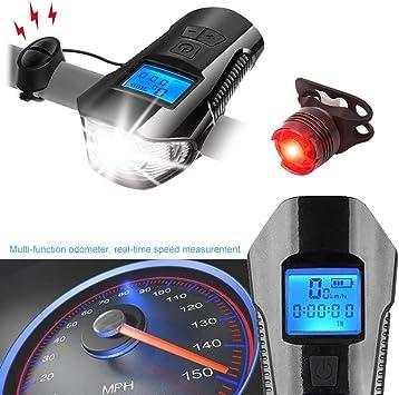 DOOK Luz Bicicleta USB Recargable,Luz Bicicleta Potente Delantera ...