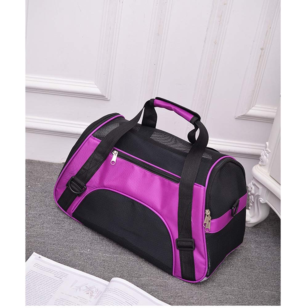 Purple Medium Purple Medium Waterproof Soft-Sided Handbag Backpack for Cat and Small Dogs Pet Carrier Sling Bag Small Cat Carrier Satchel Small Pet Portable,Purple,M
