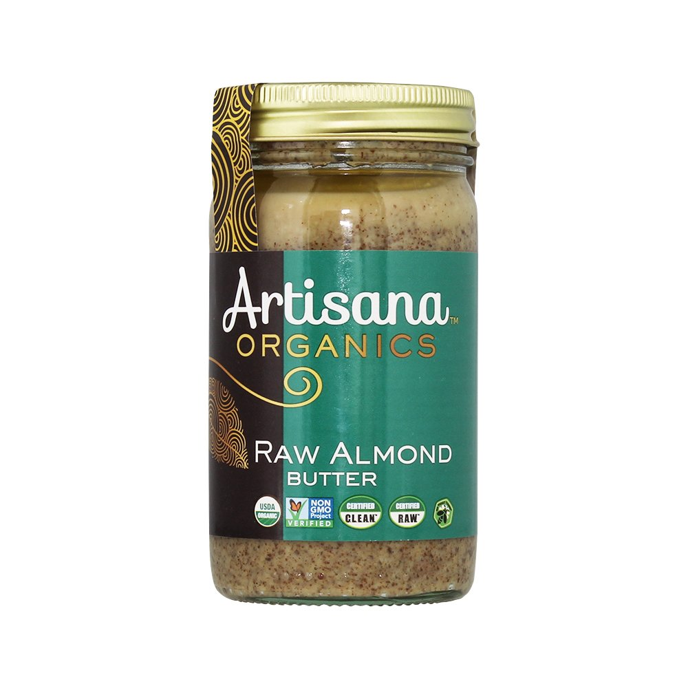 Artisana Organics - Almond Nut Butter, USDA Organic Certified and Non-GMO Handmade Rich and Thick Spread (14 oz)