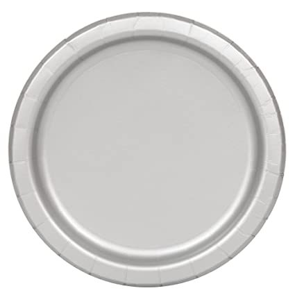 Silver Paper Plates 16ct  sc 1 st  Amazon.com & Amazon.com: Silver Paper Plates 16ct: Childrens Party Plates ...