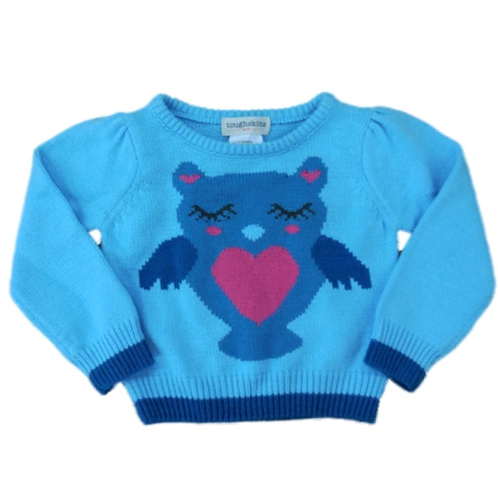 4e7b758a1 Amazon.com  Toughskins Girls Toddler   Infant Blue Owl Pullover ...