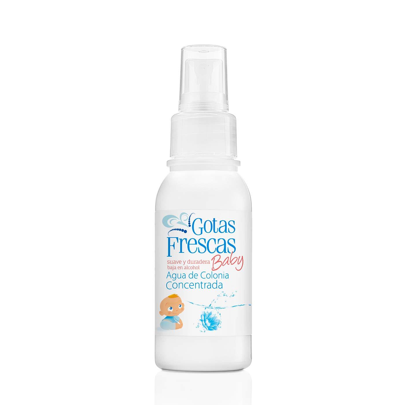 Instituto Español Gotas frescas - Agua de colonia concentrada para bebé - baja en alcohol - 80 ml