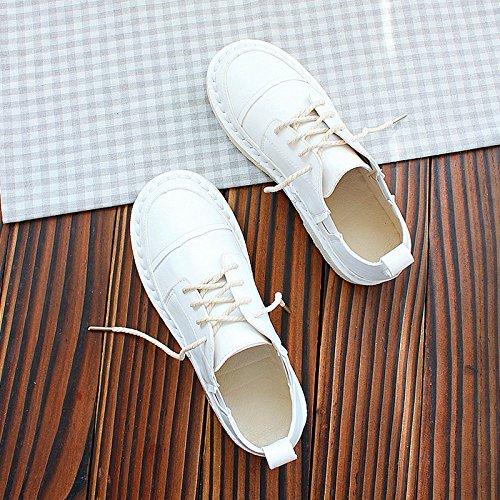 colore Scarpe Frenulum Spring di scarpe puro piatta Wuyulunbi puro bianco Low suola scarpe Scarpe Bianco n0Iw4qR