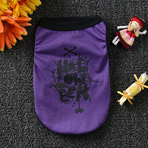 Pet Supply - Dog Vests Cool Halloween Cute Pet Vest Clothing Summer Small Puppy Costume Clothing T Shirt Apparel Clothes Teddy Dog Shirt]()