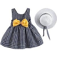 IDOPIP Baby Girl Tutu Dress Summer Sleeveless Backless Princess Birthday Party Dresses Flower Bow Sundress with Straw…