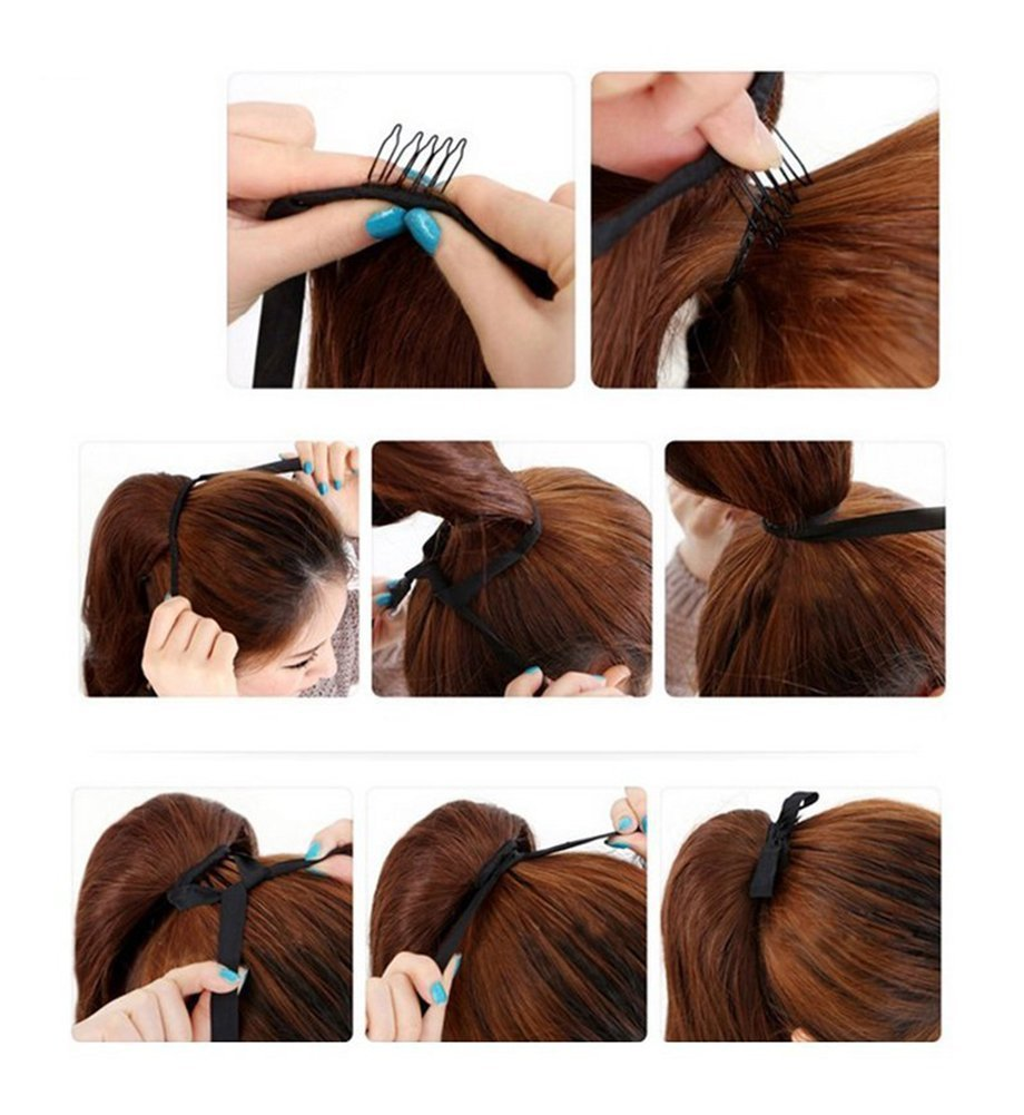 drawstring ponytail extensions tie up ponytail clip in hair