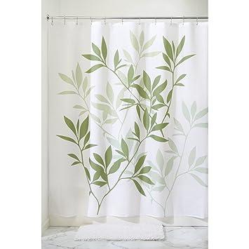 InterDesign Leaves Fabric Shower Curtain   Stall, 54u0026quot; X 78u0026quot;, ...