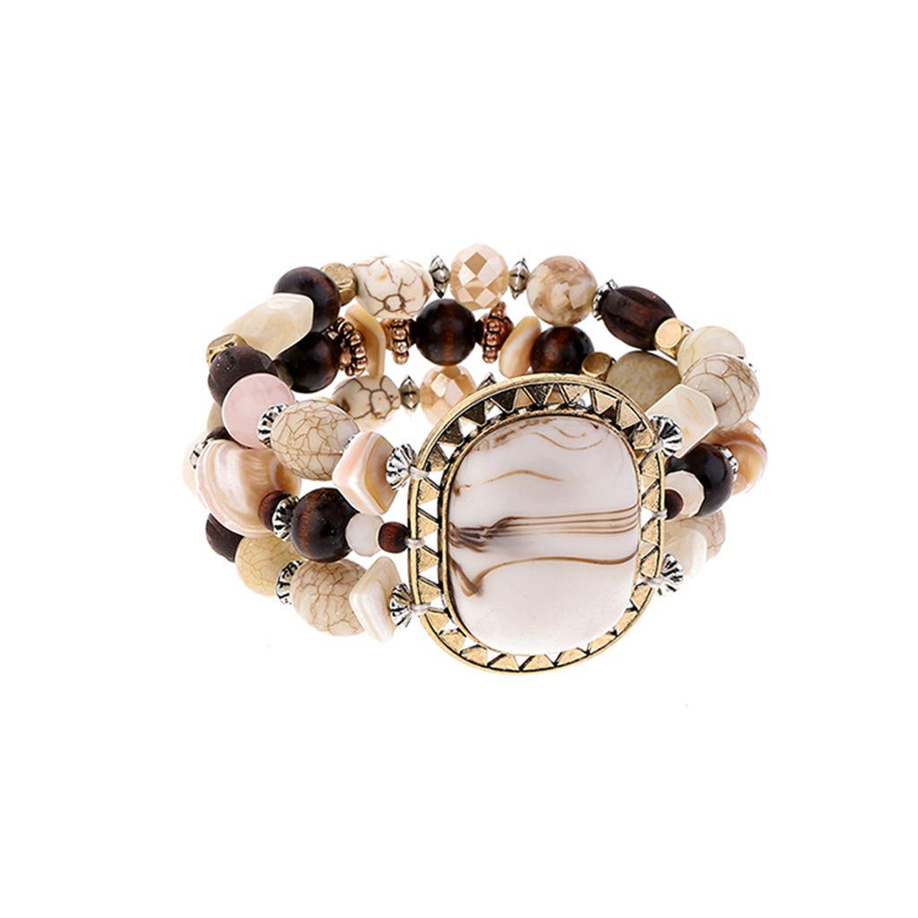Tantisy ♣↭♣ Bracelet for Women ☘ Trend Personality Resin Bracelet Beaded Elastic Bracelets Women Girls Creative Bracelet