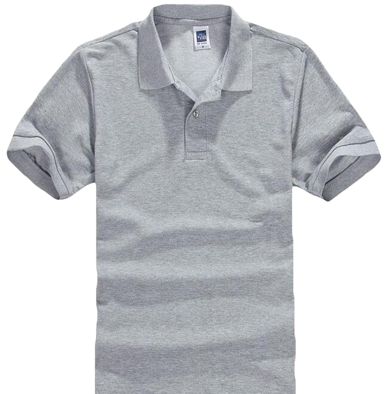 YiLianDa Homme Polo Shirts Manche Courte Casual T-shirt Mode Fit Tee Tops 0ac782da21b