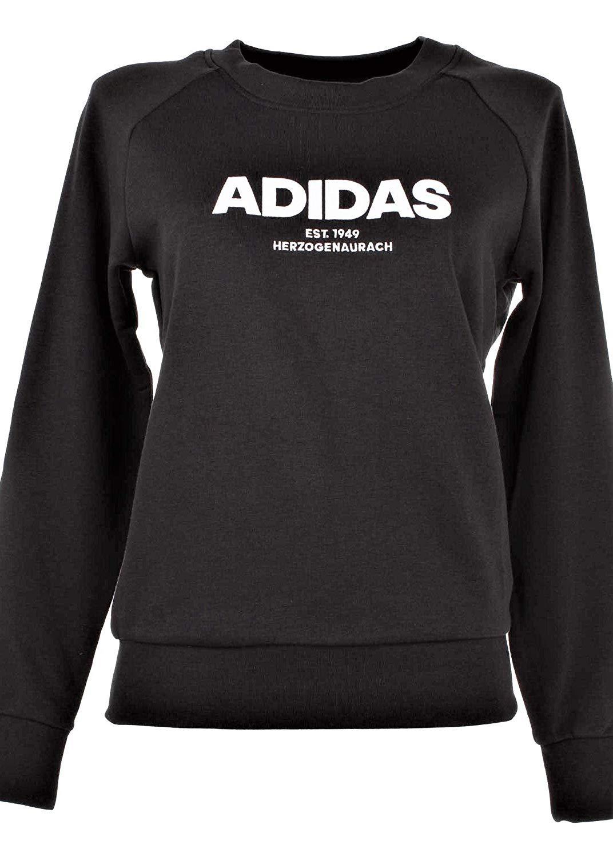 adidas Women Sweatshirts All Cap Running Black Fashion Training Gym CZ5690 New (L) by adidas