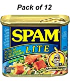 Spam Luncheon Meat Lite 12 oz (Pack of 12)