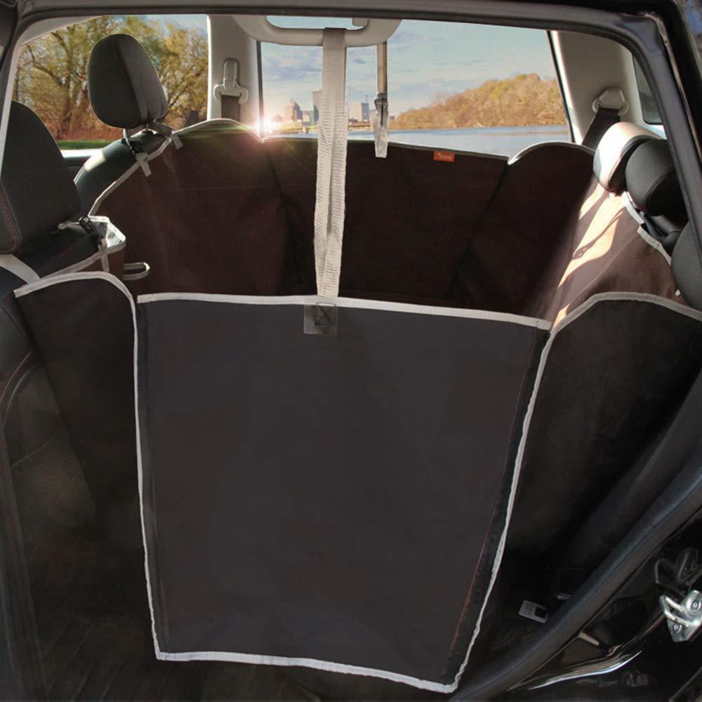 Brown 16514350cmKuaker Pet Car Seat Cushion Big Dog Car Rear Row Waterproof Wear Resistant Car Mat Oxford Cloth,Brown,165  143  50cm