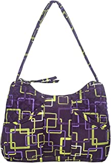 product image for Susan by Stephanie Dawn, Made in USA, Quilted Cotton Fabric, Small Handbag, Zipper Closure, Handcrafted, Washable