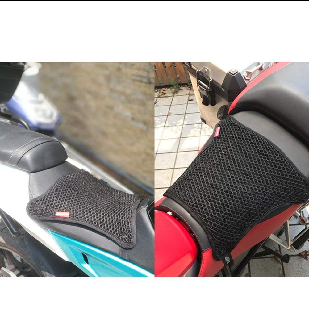 kaersishop Cubierta de Asiento Motocicleta Cubierta de Asiento Fresco Tela de Malla 3D Antideslizante Aislamiento de Calor Protector Solar Motocicleta Coj/ín Accesorios de Motocicleta