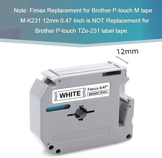 1250CC original vhbw© Label Tape 12mm S-SG für BROTHER P-Touch 1250