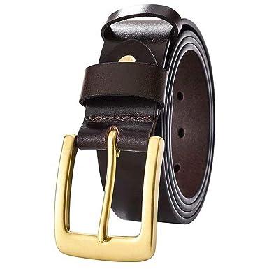 XDDQB Cinturón para hombre Cinturones de hebilla cinturón casual ...