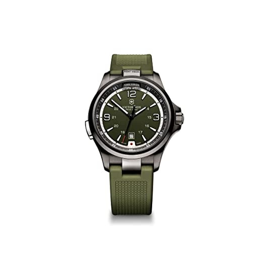Victorinox 241595 - Reloj de Pulsera Hombre, Caucho, Color Verde