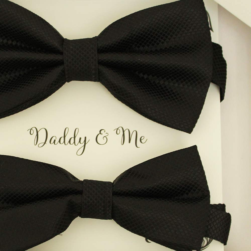 Amazon.com: Black Bow tie set for daddy and son, Daddy and me gift set,  Grandpa and me, Father son matching, Kids bow tie, daddy and me bow tie  gift: ...