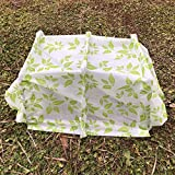 Mini Greehouse Easy Seedling Tunnels 0.95oz Plant Cover with Hoop Grow Tunnel Frost Protection,Plant Cover &Frost Blanket for Season Extension and Seed Germination, 3' Long x 10'' High, Colored