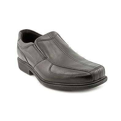 Rockport Mens Loafer Dress Shoes Size 11.5 M K57539 Lesner Black Leather