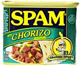 SPAM Chorizo - Ham - Canned - Shelf Stable Protein - 12 Ounce