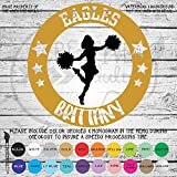 Cheerleader Design 5 Custom Team & Name Vinyl Decal Sticker