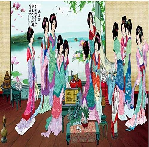 Ljjlm カスタマイズされた大規模な壁画12 Jinchai Honglou夢レディース図背景壁紙不織布壁紙-420X280Cm