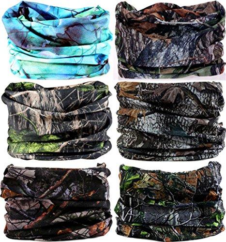 VANCROWN Headwear Wide Headbands Scarf Head Wrap Mask Neck Warmer (6PC.Jungle Series)